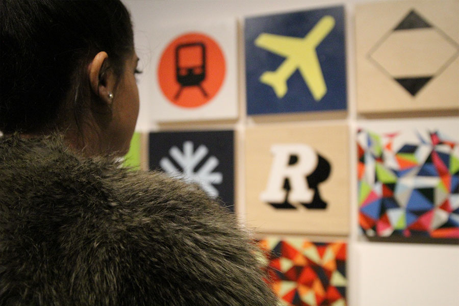 The opening reception of Typo: Typography as art
