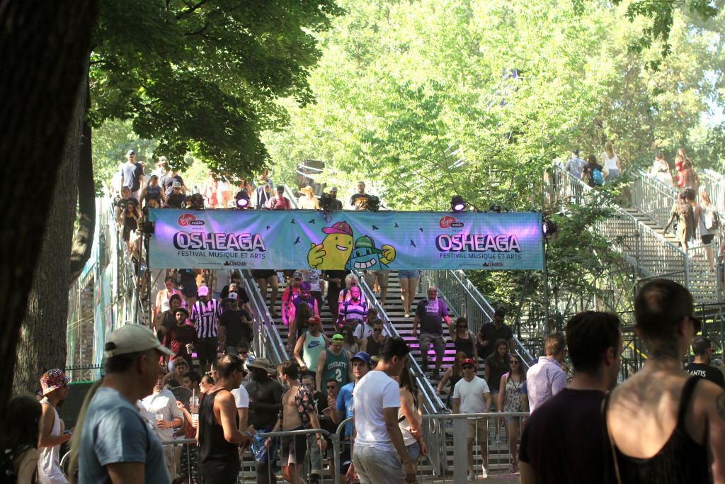 Osheaga is spread out among six stages, across the park.