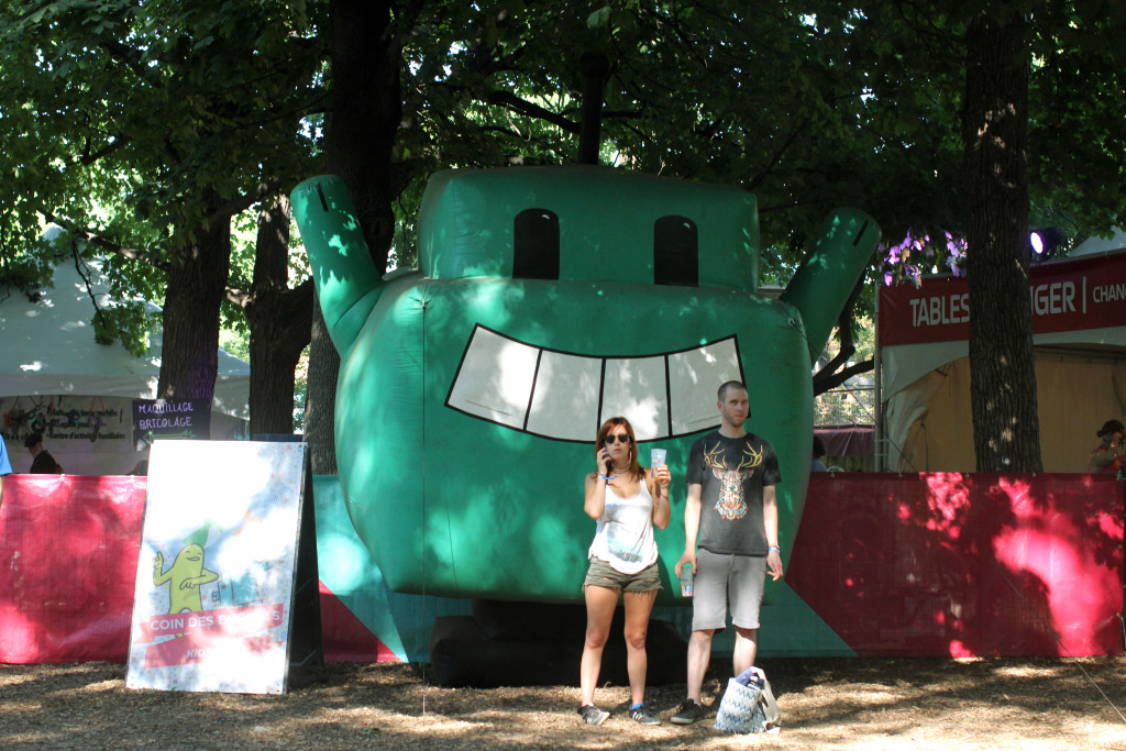 These Osheaga mascots were appreciated by kids and adults alike